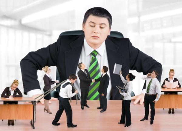 когда начальнику интересно только наблюдать, но ничего не делать, пользы от него 0%