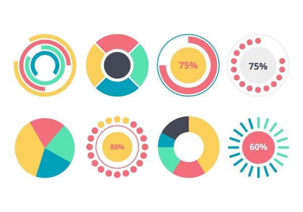 инфографика может состоять из графиков, диаграмм, списков