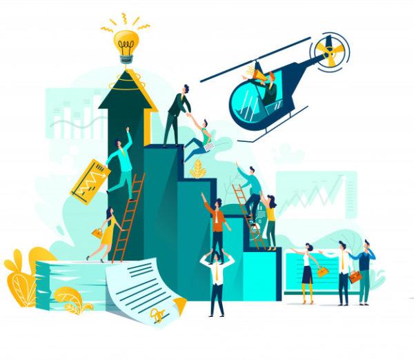 добиться роста в карьере можно разными способами, но не следует использовать запрещенные и антиморальные